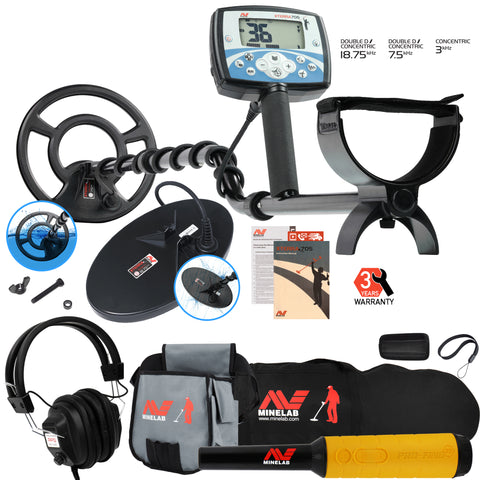Minelab X-Terra 705 Dual Pack w/ Pro Find 35, Headphones, Carry Bag, Finds Pouch