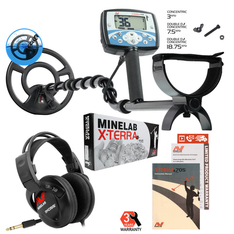Minelab X-Terra 705 Metal Detector Summer Special with Koss UR-30 Headphones
