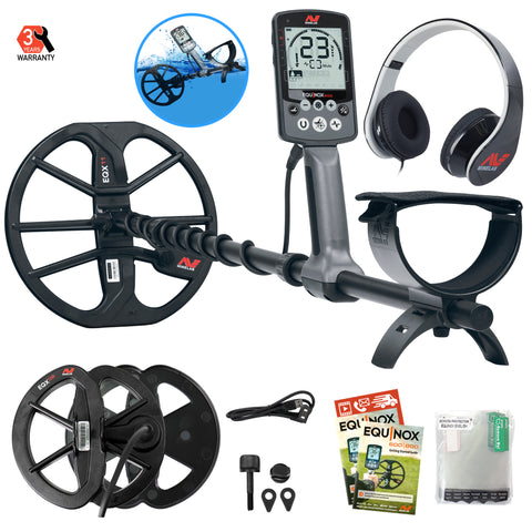 "Minelab EQUINOX 600 Metal Detector Bundle with 6"" EQUINOX 06 Double-D Waterproof Smart Search Coil"