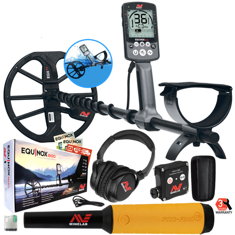 Minelab EQUINOX 800 Multi-IQ Metal Detector with Pro-Find 15 Pinpointer