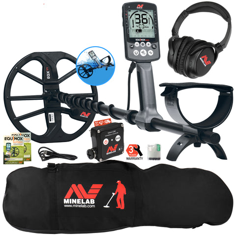 Minelab EQUINOX 800 Multi-IQ Metal Detector with Black Padded Carry Bag