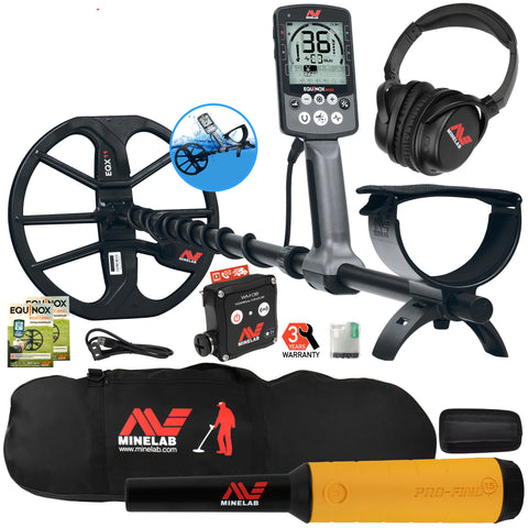 Minelab EQUINOX 800 Multi-IQ Metal Detector w/ Pro Find 15 Pinpointer, Carry Bag