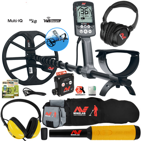 Minelab EQUINOX 800 Detector w/ Pro Find 35, Waterproof Headphones, Pouch & More