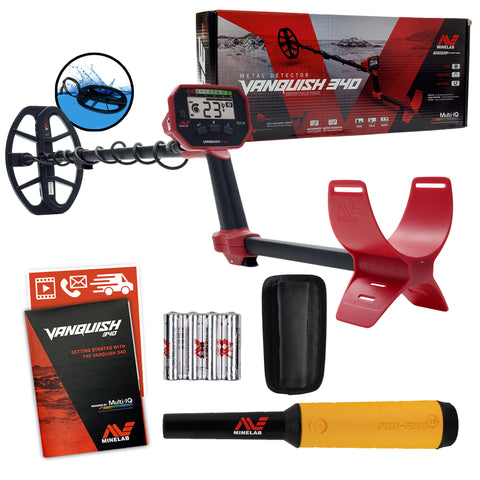 Minelab VANQUISH 340 Detector with 10 x 7 Coil and Pro-Find 15 Pinpointer