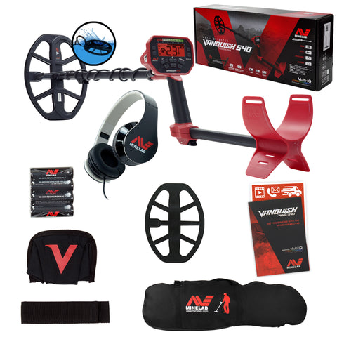 Minelab VANQUISH 540 Metal Detector with 12 x 9 Waterproof DD Coil and Carry Bag