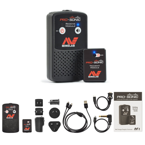 Minelab PRO‑SONIC Wireless Metal Detector Audio System