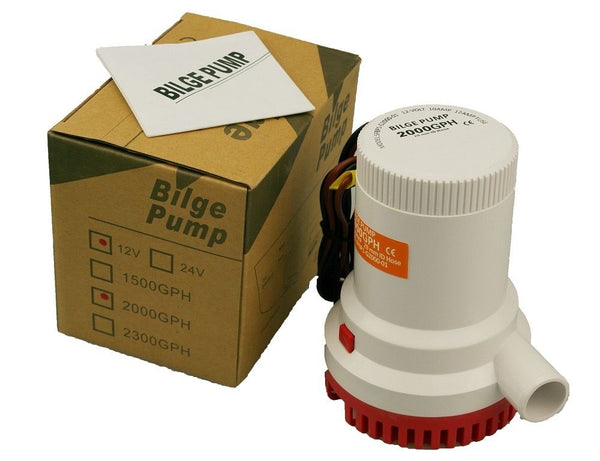 Gold Cube Submersible Bilge Pump 12V 2000 GPH Gallons Per Hour