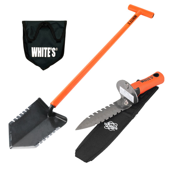 Whites Ground Hawg Shovel with DigMaster Double Serrated Digging Tool & Sheath