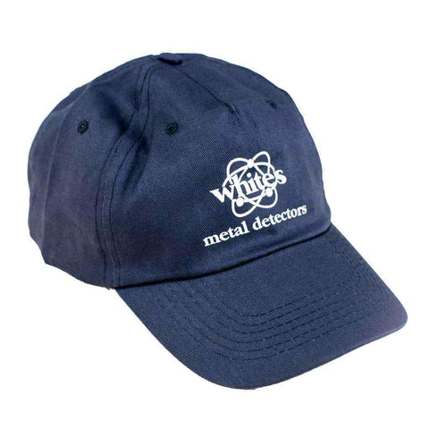 Whites Navy Blue Cotton Ball Cap with Strap Back Adjustment