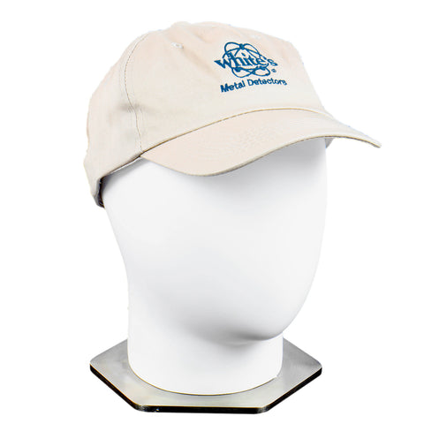 Whites Tan Cotton Ball Cap Teal Logo with Strap Back Adjustment