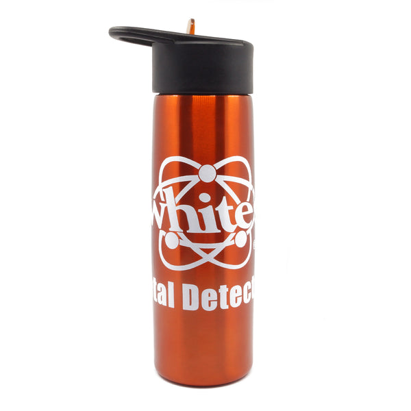 White's Metal Detectors Stainless Steel Anodized Canteen Orange with Logo