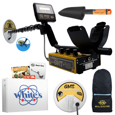 "Whites Goldmaster GMT Anodized Gold Metal Detector Summer Bundle with 6"" Coil"