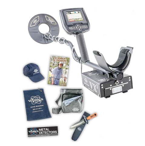 Whites Spectra VX3 Metal Detector Spring Bundle with Digging Tool, Pouch, & More