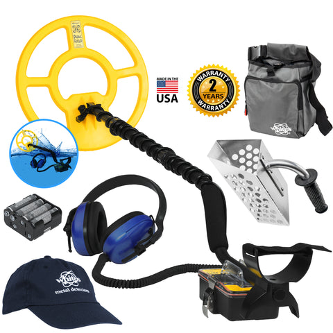 Whites Surfmaster PI DF Underwater Detector Holiday Bundle w/ Accessories