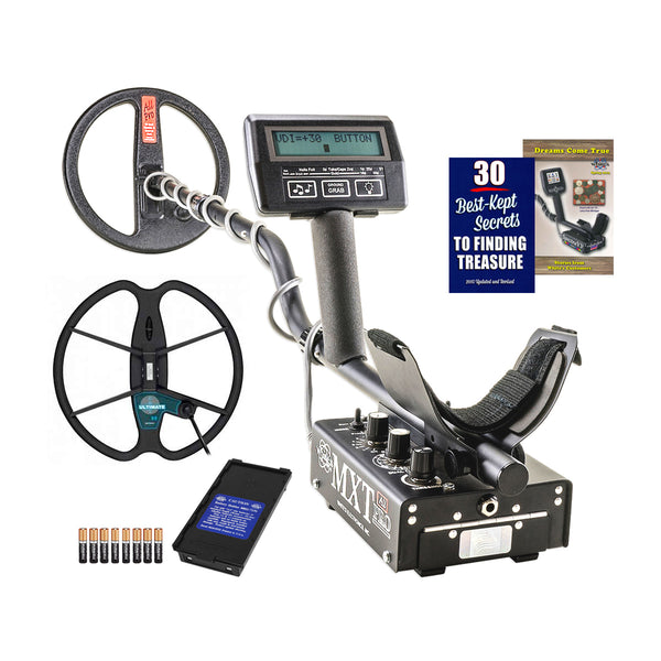 "Whites MXT All Pro Metal Detector w/ 10"" Coil & 13"" Detech Coil"