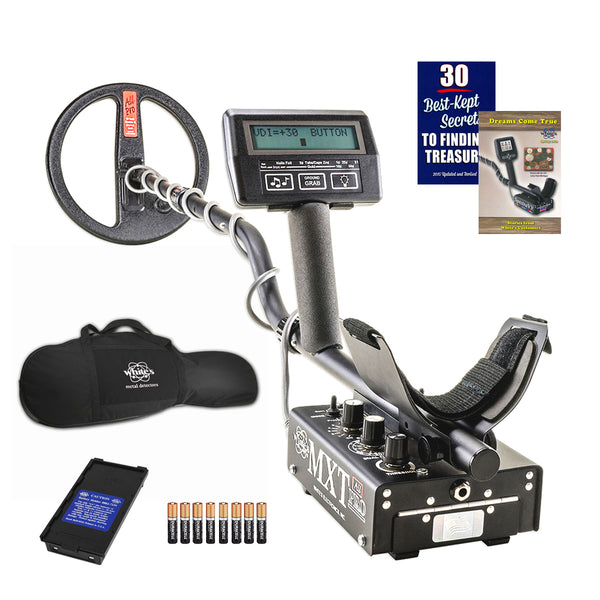 "Whites MXT All Pro Metal Detector with 10"" DD Search Coil and Padded Carry Bag"