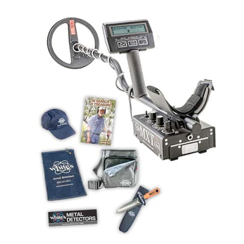 Whites MXT All Pro Metal Detector Spring Bundle with Digging Tool, Pouch, & More