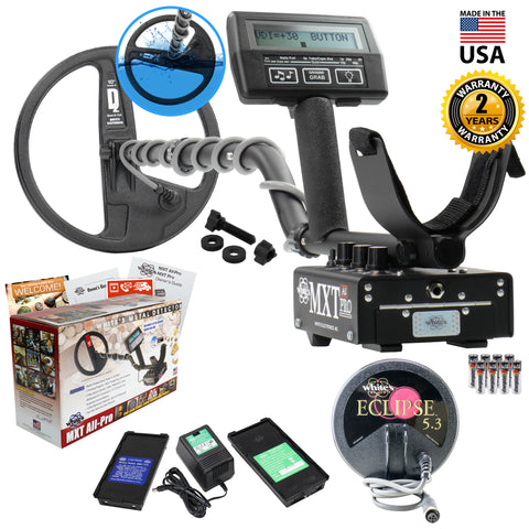 "Whites MXT All Pro Metal Detector Summer Bundle with 6"" Eclipse Coil"