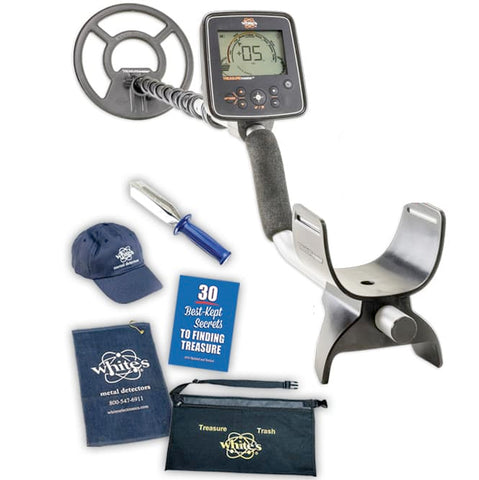 Whites Treasuremaster Metal Detector Spring Bundle with Trowel, Hat, & More