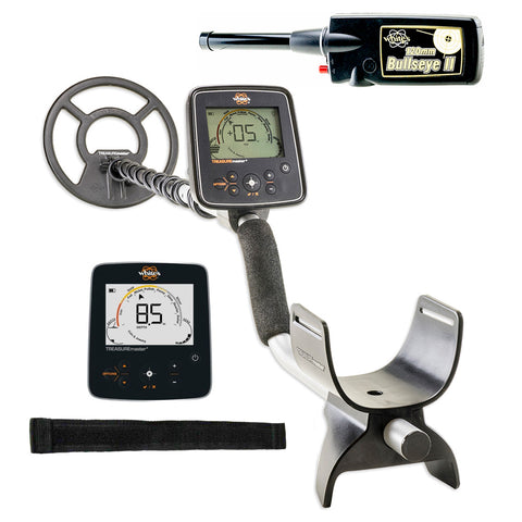 Whites Treasuremaster Metal Detector Waterproof Coil and Bullseye II Pinpointer