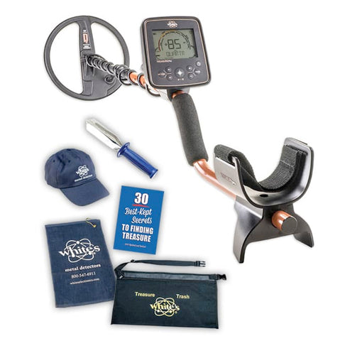 Whites TreasurePro Metal Detector Spring Bundle with Trowel, Hat, & More