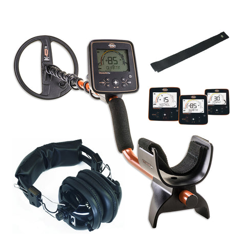 "Whites TreasurePro Metal Detector with 10"" DD Waterproof Coil and Headphones"