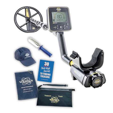 Whites MX Sport Metal Detector Spring Bundle with Trowel, Hat, & More