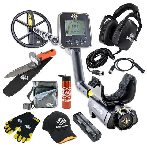 "Whites MX Sport Waterproof Metal Detector with 10"" DD Coil Bonus Bundle"