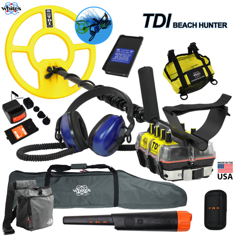 Whites TDI BeachHunter Extreme PI Underwater Detector w/ Bullseye TRX and More