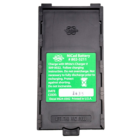Whites DFX, XLT, MXT, M6, QXT, CL SL NiCad Rechargeable Battery