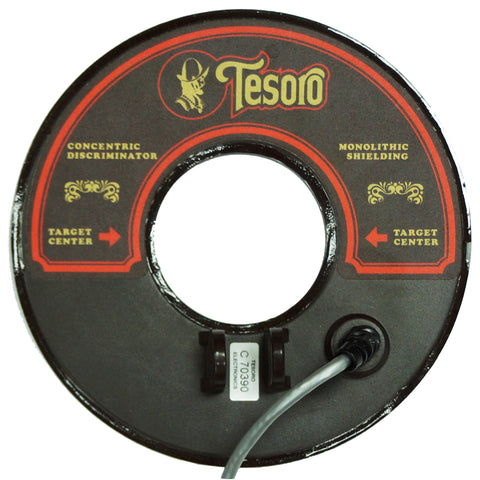 "Tesoro 8"" Round Concentric Search Coil w/ 8ft Long Cable"