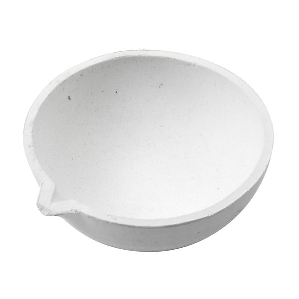 "3"" Alumina WHITE Ceramic Pot Jeweler Crucible for Melting Gold, Silver or Copper"