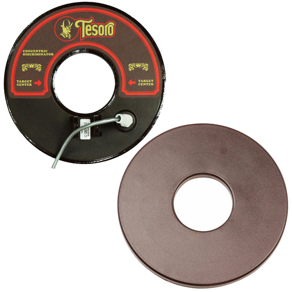 "Tesoro 8"" Round Concentric Search Coil with 8ft Long Cable & Coil Cover"