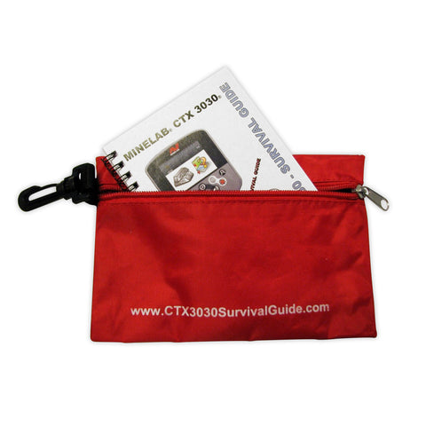 Minelab CTX 3030 Survival Guide and Clip Pouch