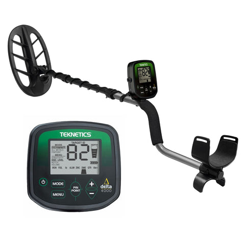 "Teknetics Delta 4000 Metal Detector w/ 11"" DD Double-D Coil & 5 Year Warranty"