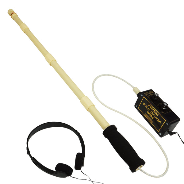 Falcon Gold Tracker MD20 Metal Detector 300kHz Probe w/ Handle & Headphones