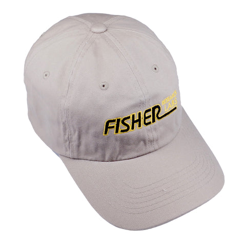 Fisher Metal Detector Baseball Cap Hat Khaki