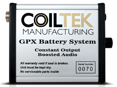 Coiltek GPX REGULATED BATTERY SYSTEM for only Minelab GPX Series