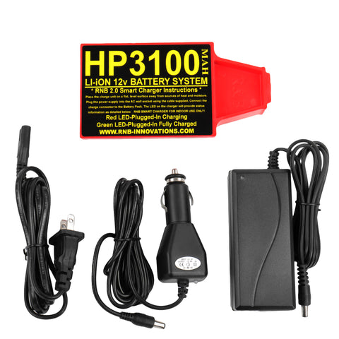 RnB Innovations HP-3100 Lithium-ion Battery & Car Charger For Whites Metal Detectors