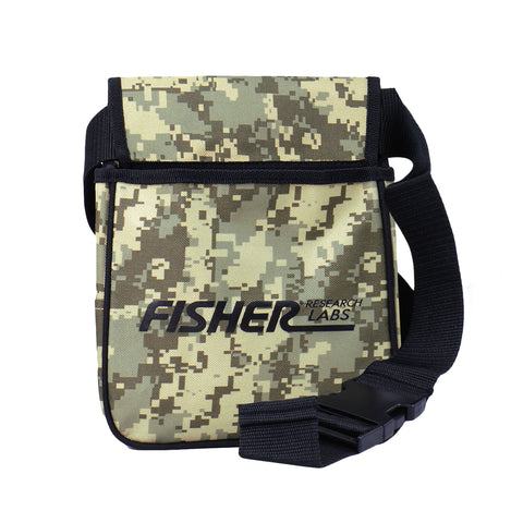 Fisher Metal Detector Camo Pouch two Large Pockets & Belt