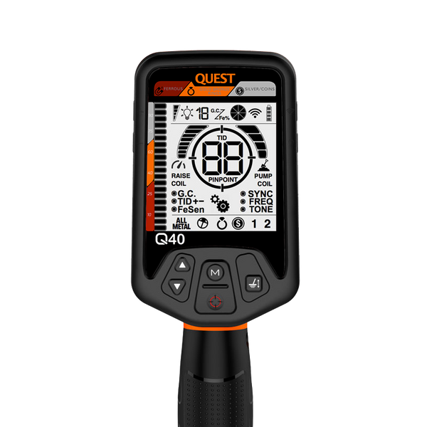 Quest Q40 metal detector face