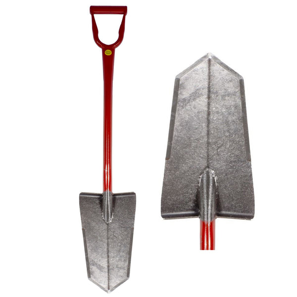 King of Spades Super Sampson Red D-Handle Shovel w/ Heat Treated Blade