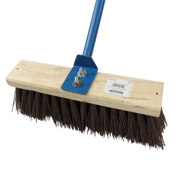 King of Spades Broom, Poly Bristle Head for Shop or Home Clean Up
