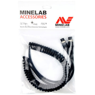 Minelab Curly Cord Power Cable (4 Pin) - Heavy Duty
