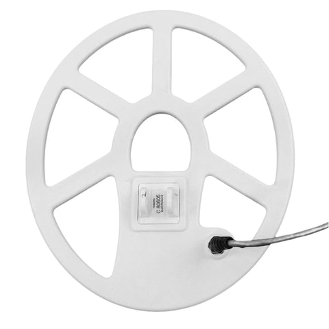 "Tesoro 12""x10"" Elliptical Concentric Search Coil White 8ft Cable w/ Coil Cover"