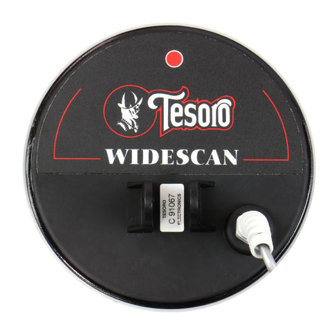 "Tesoro 5 3/4"" Round Widescan Search Coil with 8ft Long Cable & Coil Cover"