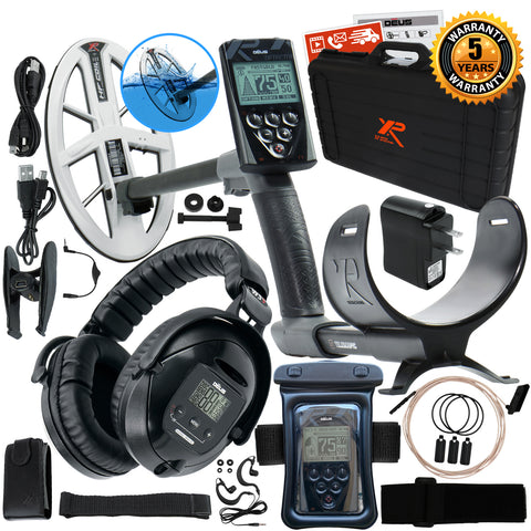 "XP Deus Metal Detector w/ WS5 Headset, Remote, Hard Case & 9.5"" HF Search Coil"