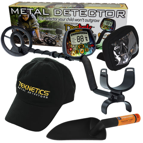 "Teknetics Digitek Metal Detector w/ 7"" Concentric Coil & Bonus Accessories"