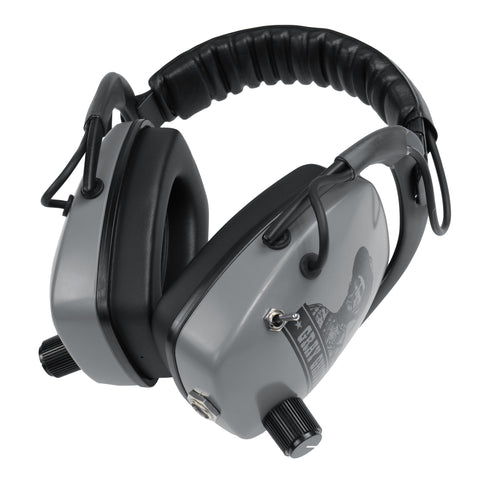 "DetectorPro Gray Ghost NDT Platinum Series Headphones with 1/4"" Angle Connector"