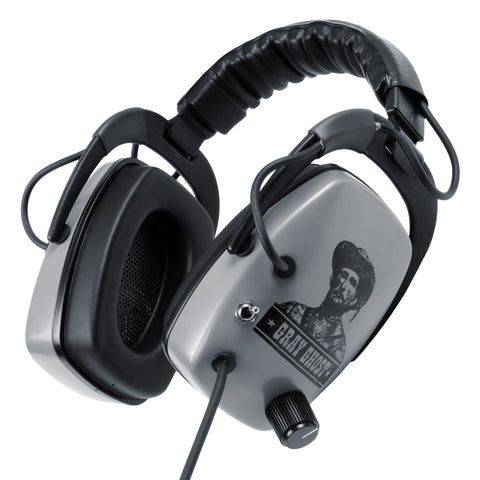 "DetectorPro Original Gray Ghost Platinum Series Headphones with 1/4"" Angle Plug"